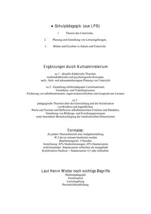 Augsburger Skript - Zusammenfassung Examenskurs Schulpädagogik ...