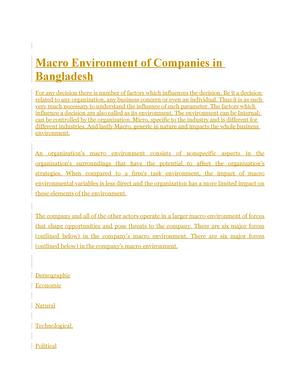 macro environment natural forces
