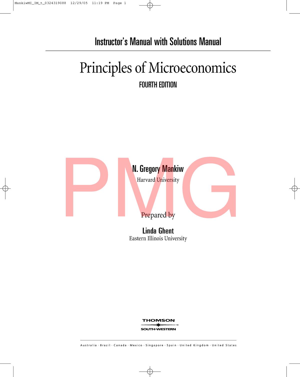 Pmg Mankiw Solution Economics Unza Studocu