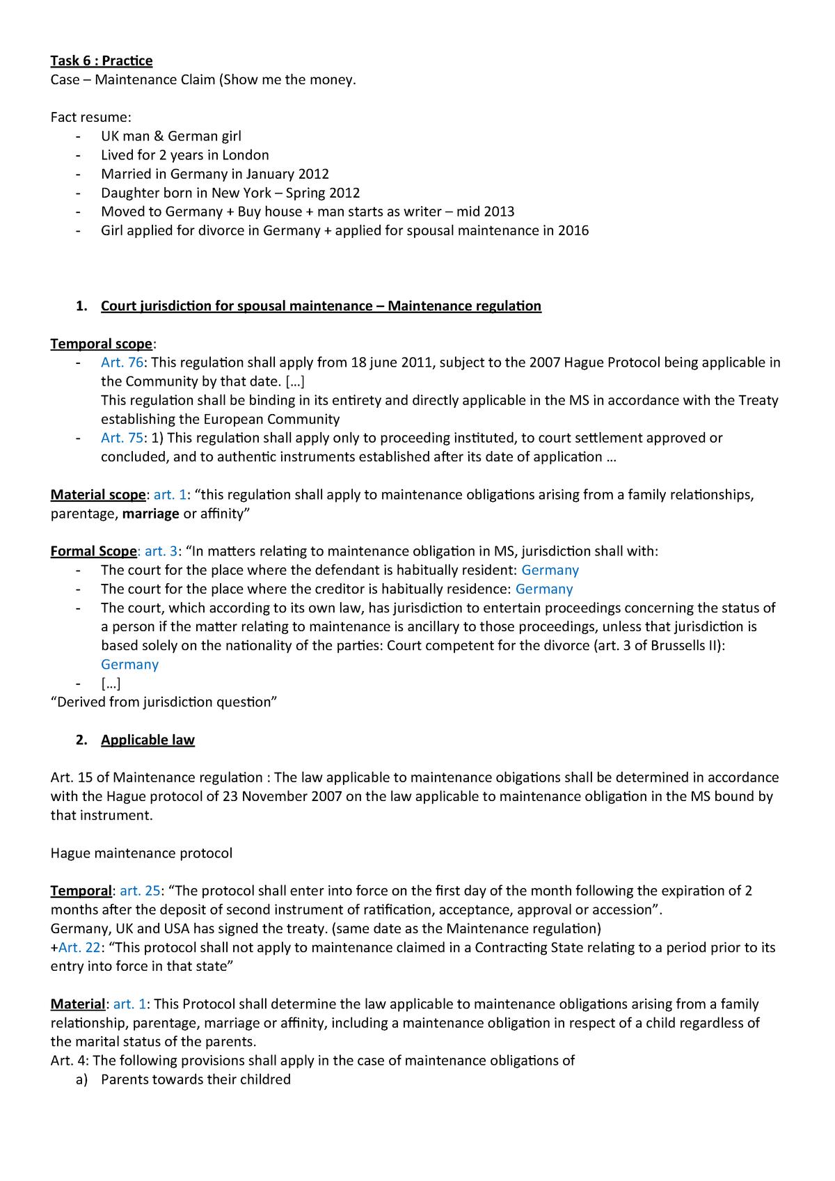 Tutorial 3 - Préparation - PRI3018: Private International Law