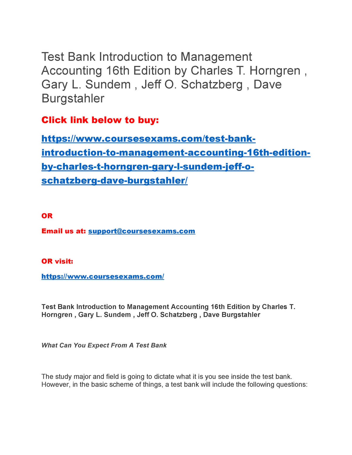 introduction to management accounting horngren 16th edition pdf