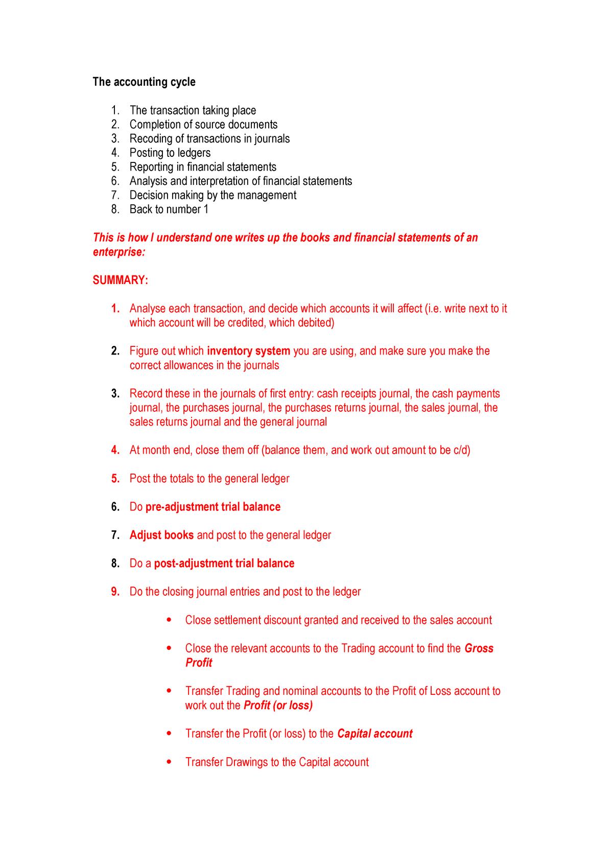 FAC1502 The accounting cycle exam - FAC1502: Financial
