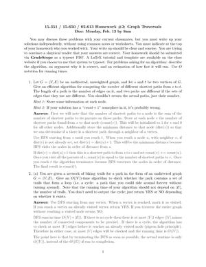 Hw3 solutions - 02 713: Algorithms & Data Structures (for