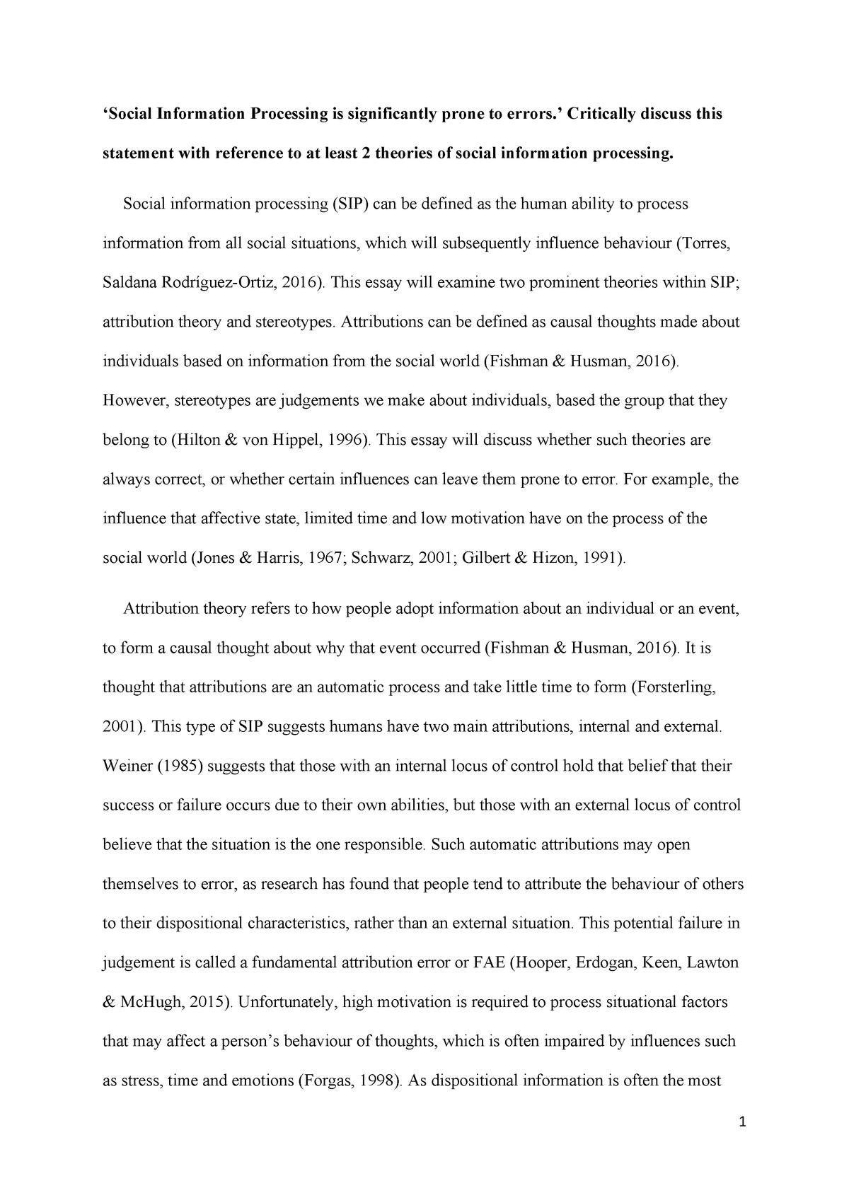 Descriptive essay about a place in nature