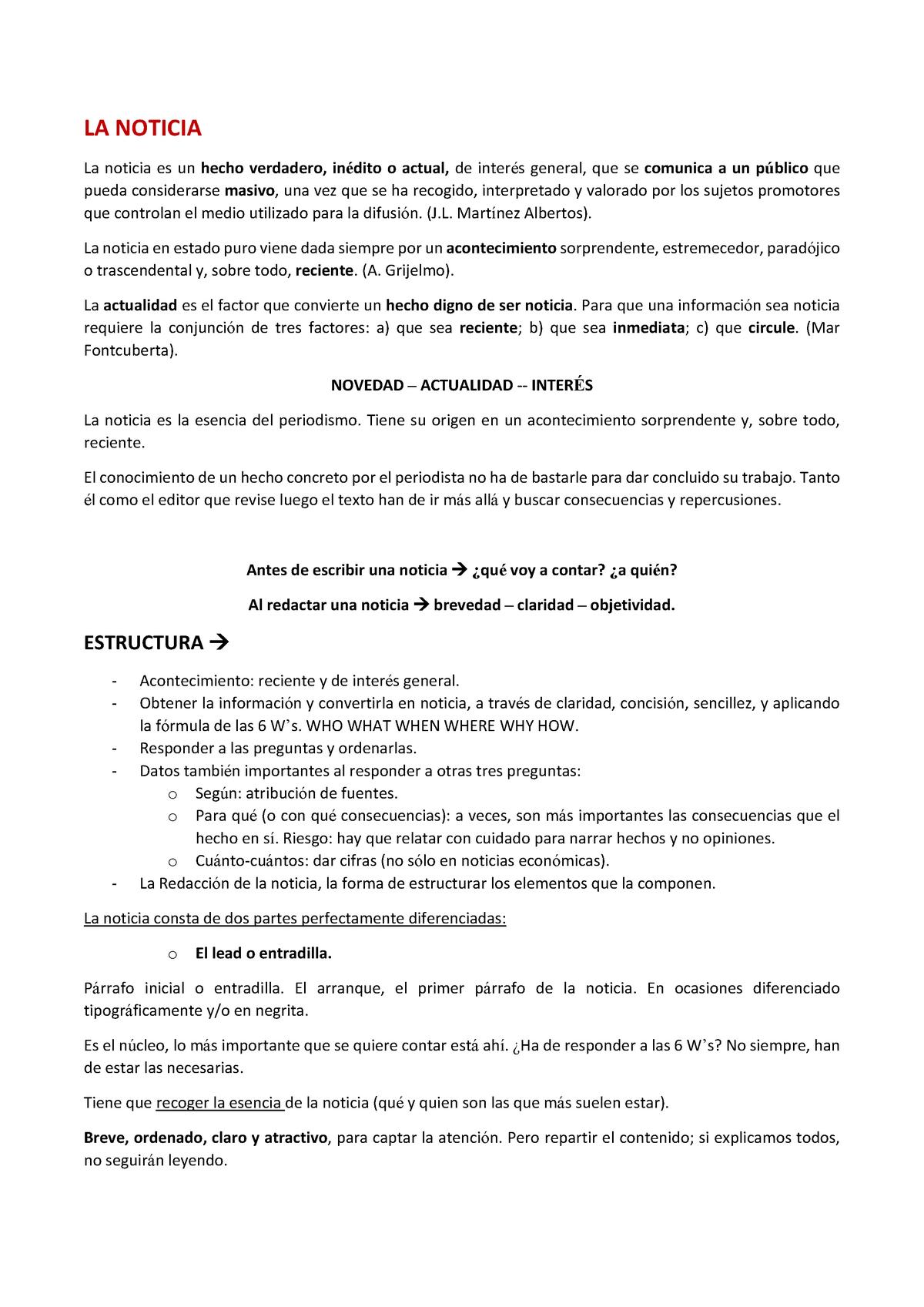 Tema 2 Noticia Redacción Periodística Ub Studocu