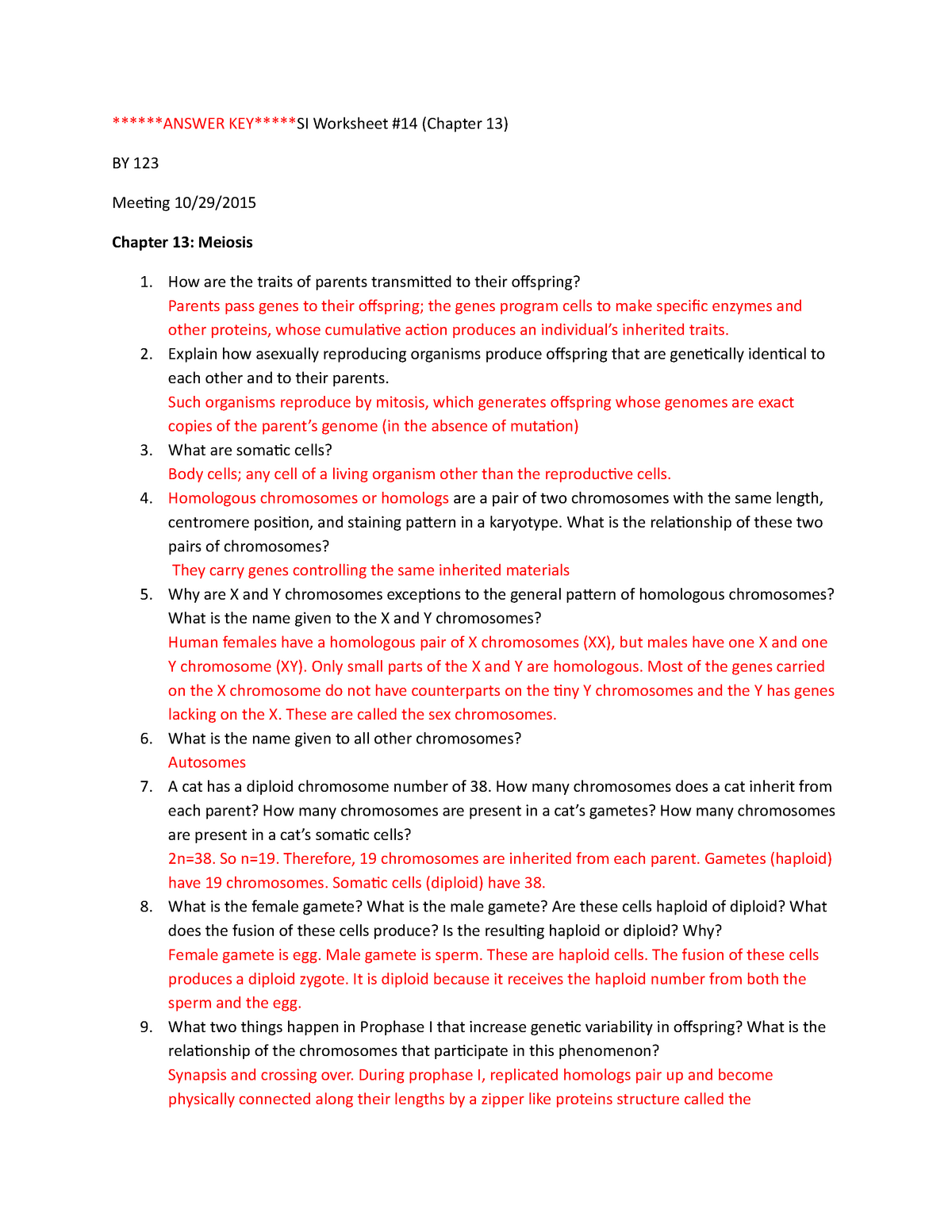 Answer Key Si Worksheet 14 Answer Key Si Worksheet 14 Chapter 13 By 123 Meeing 10 29 Chapter 13 Meiosis How Are The Traits Of Parents Transmited To Their Studocu [ 1553 x 1200 Pixel ]
