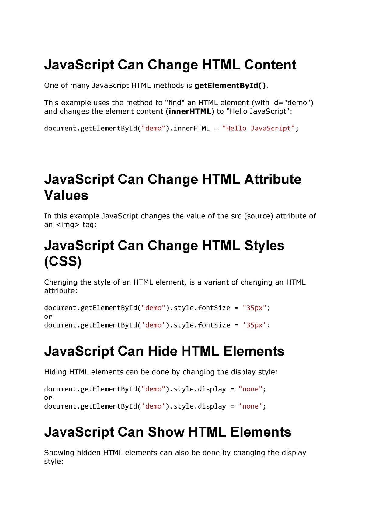 Javascript - Resumo Laboratório Multimédia 3 - StuDocu