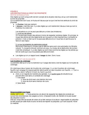 Biens Drt 1225 Notes De Cours 7 A 10 Drt 1225 Droit Des Biens