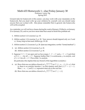 functional analysis homework solutions