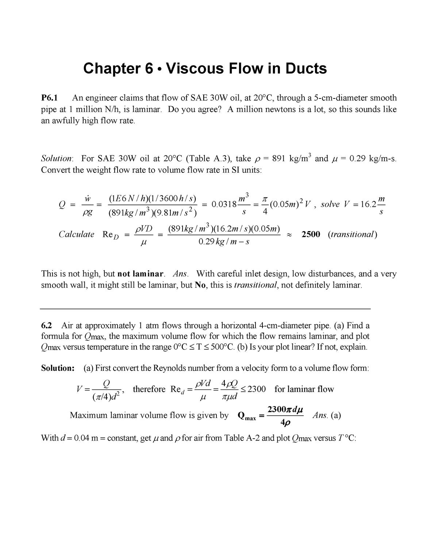 Fluids Chapter 6 Answer Key - StuDocu