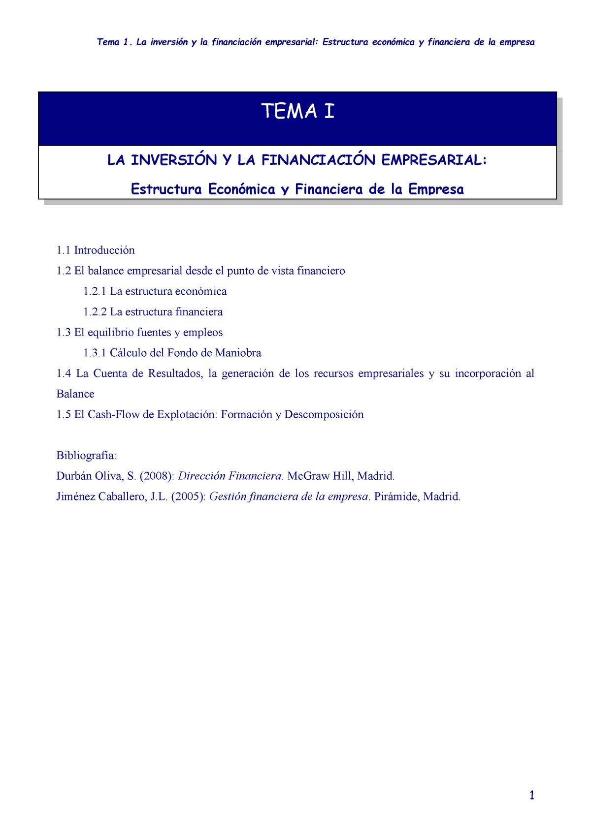 Tema 1 Inversion Financiacion Empresarial 11812025 Ujaen