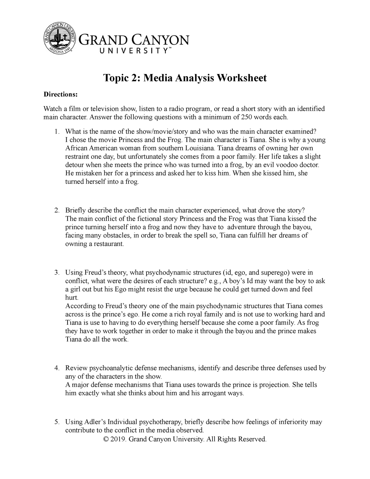 Pcn107 T2 Media Analysis Worksheet Pcn 107 Gcu Studocu