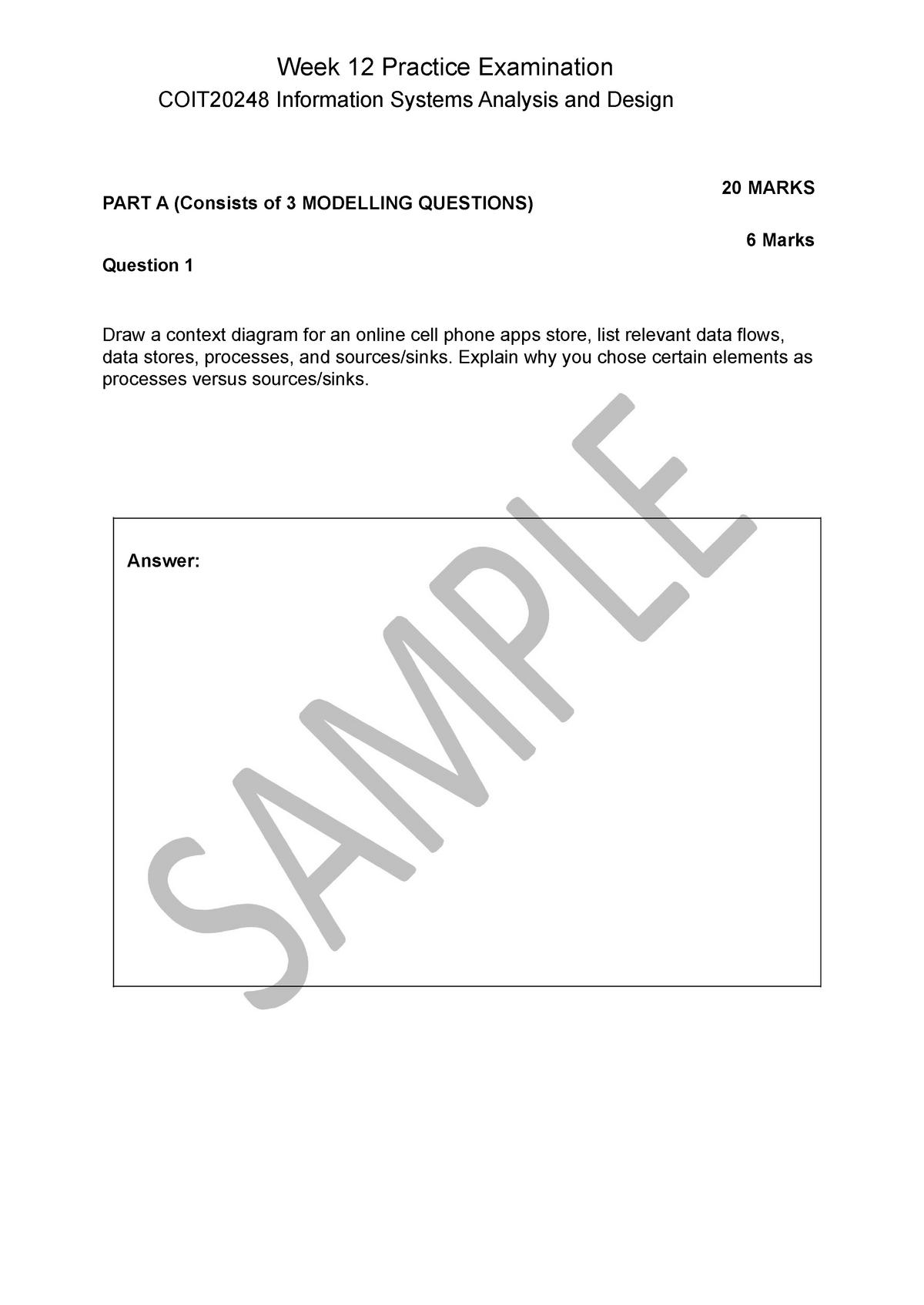 Exam 1 10 April 2017 Questions Coit20248 Cqu Studocu