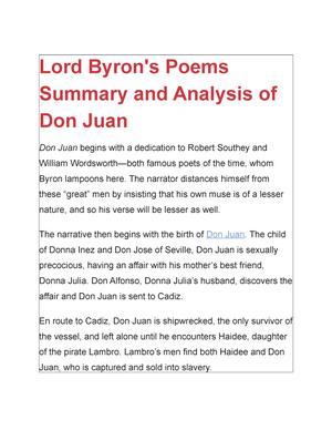 don juan poem summary