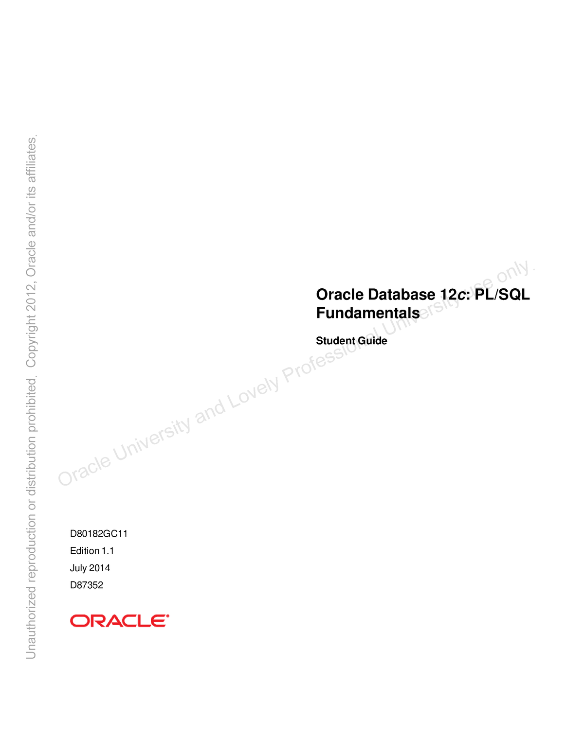Oracle Workshop Guide 5 - INT-306: DBMS - StuDocu