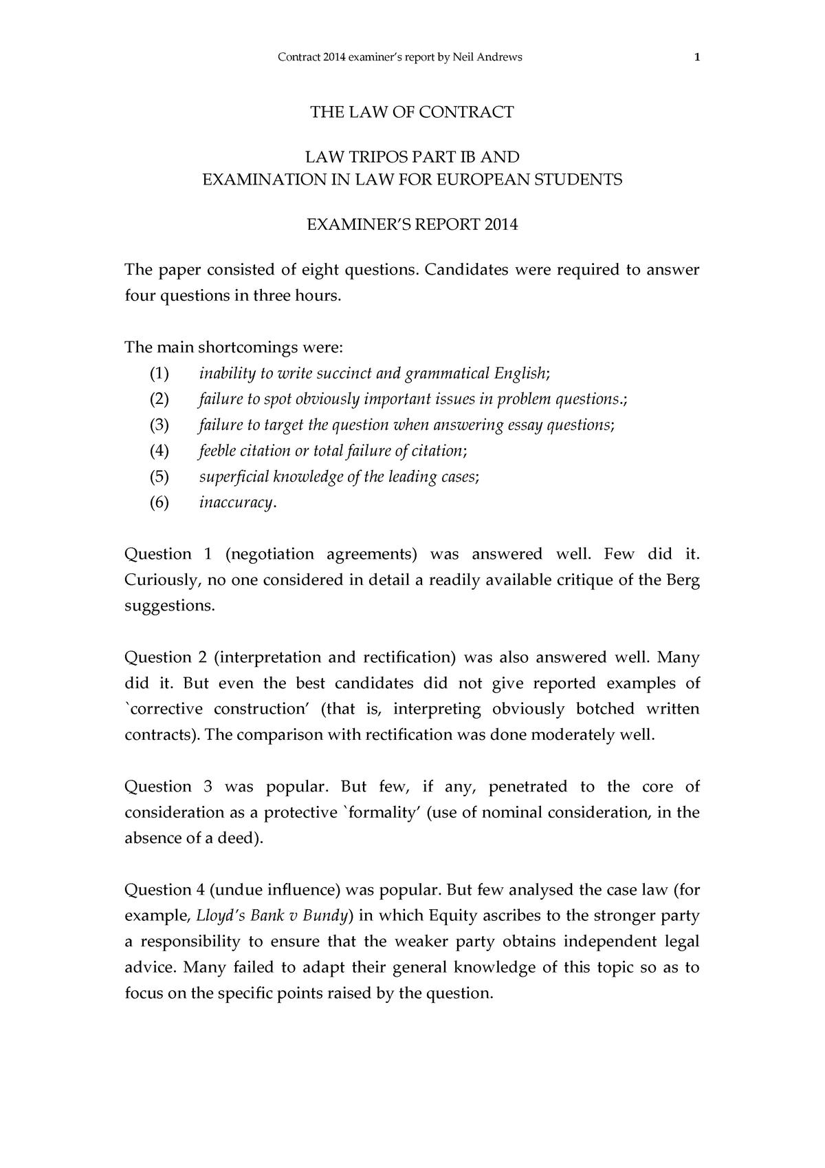 Exam 2014 - L100: Law - StuDocu