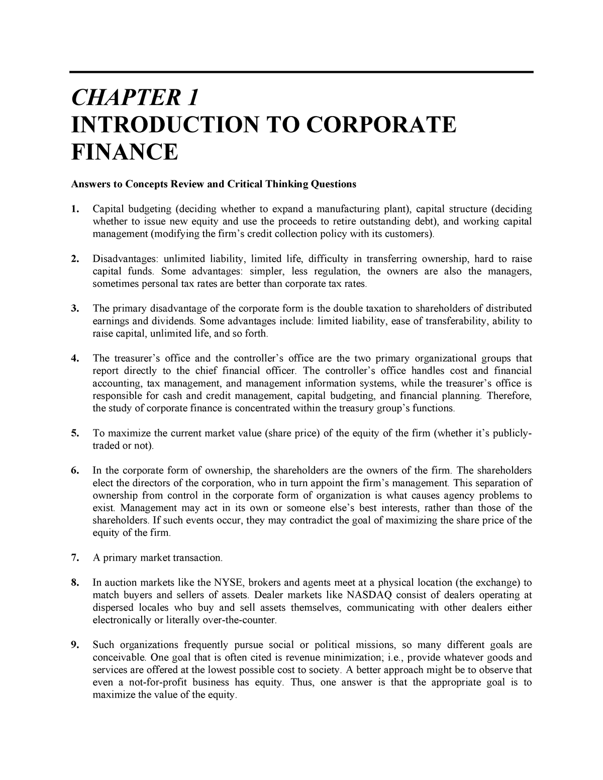 solution manual corporate finance ross westerfield jaffe chap 6