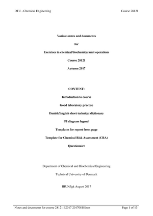 kemiske enhedsoperationer pdf