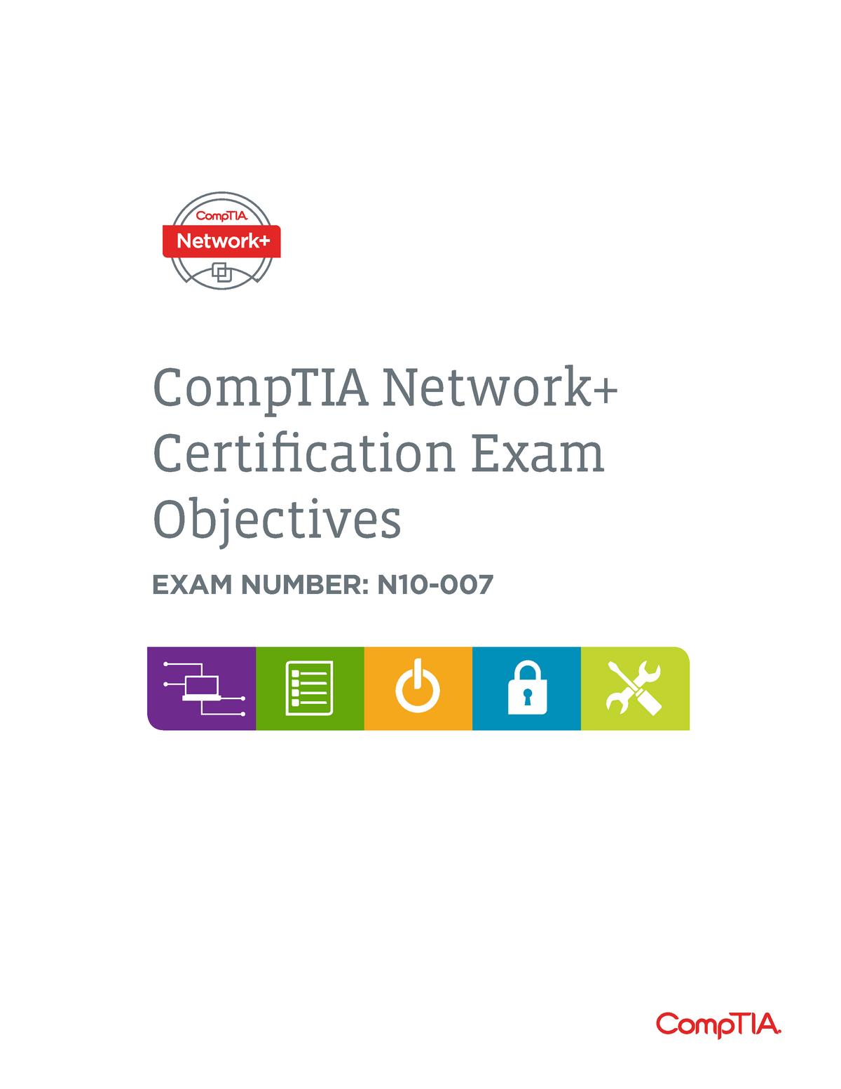 Network N10 007 Exam Objectives - CIS445: Computer systems - StuDocu