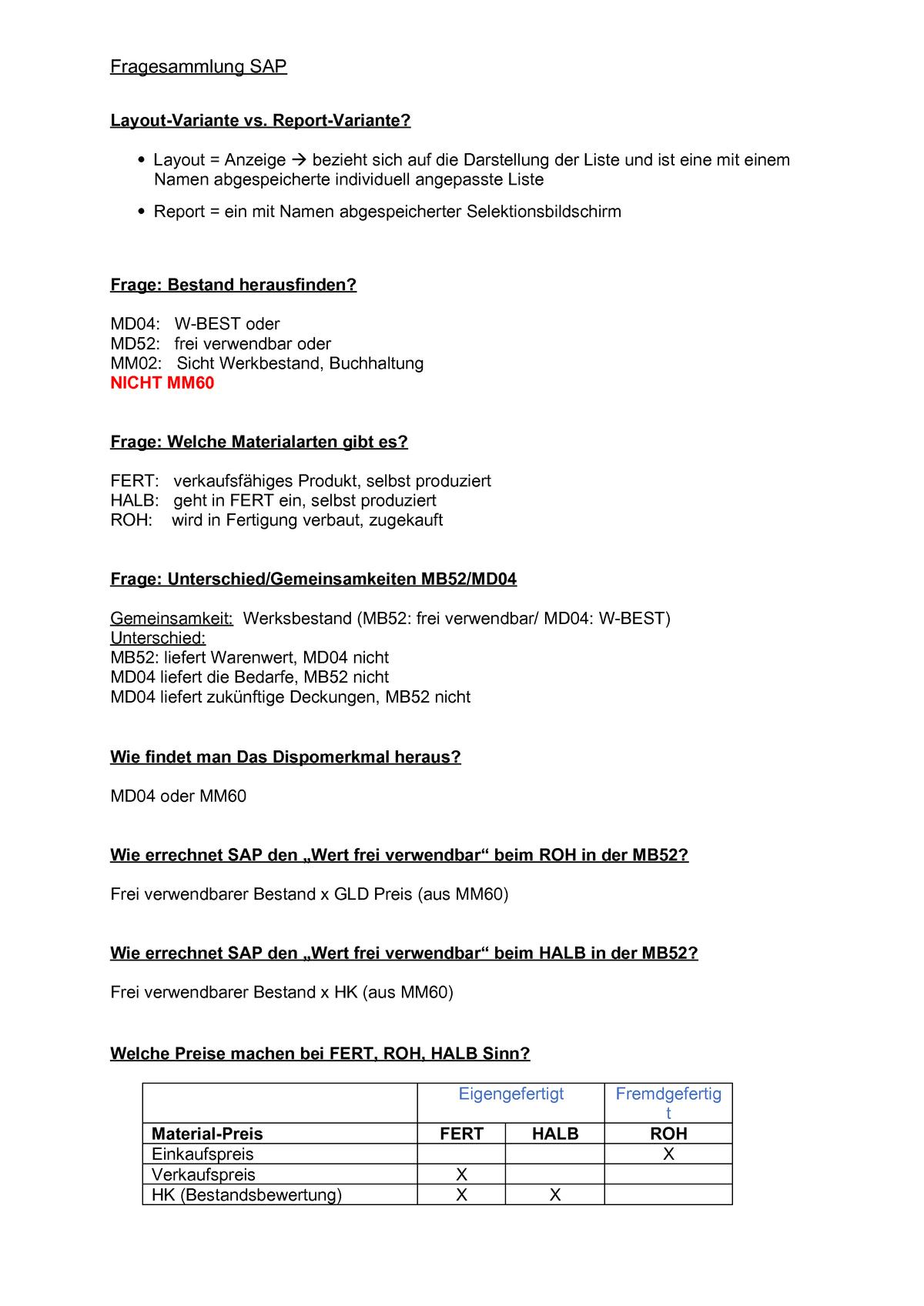 Fragenkatalog SAP - PZM: Prozessmanagement und