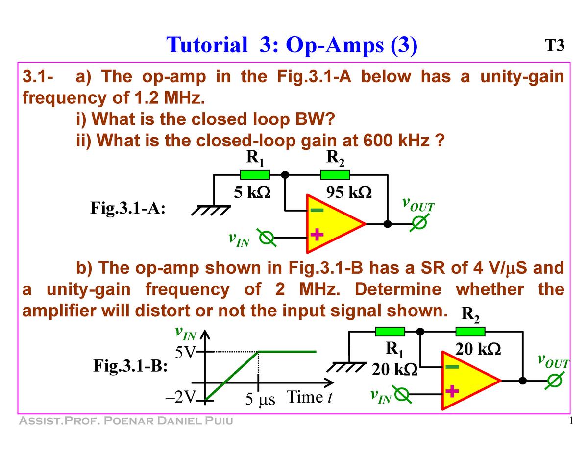 E2002-Tut3 - EE2002: Analog Electronics - StuDocu