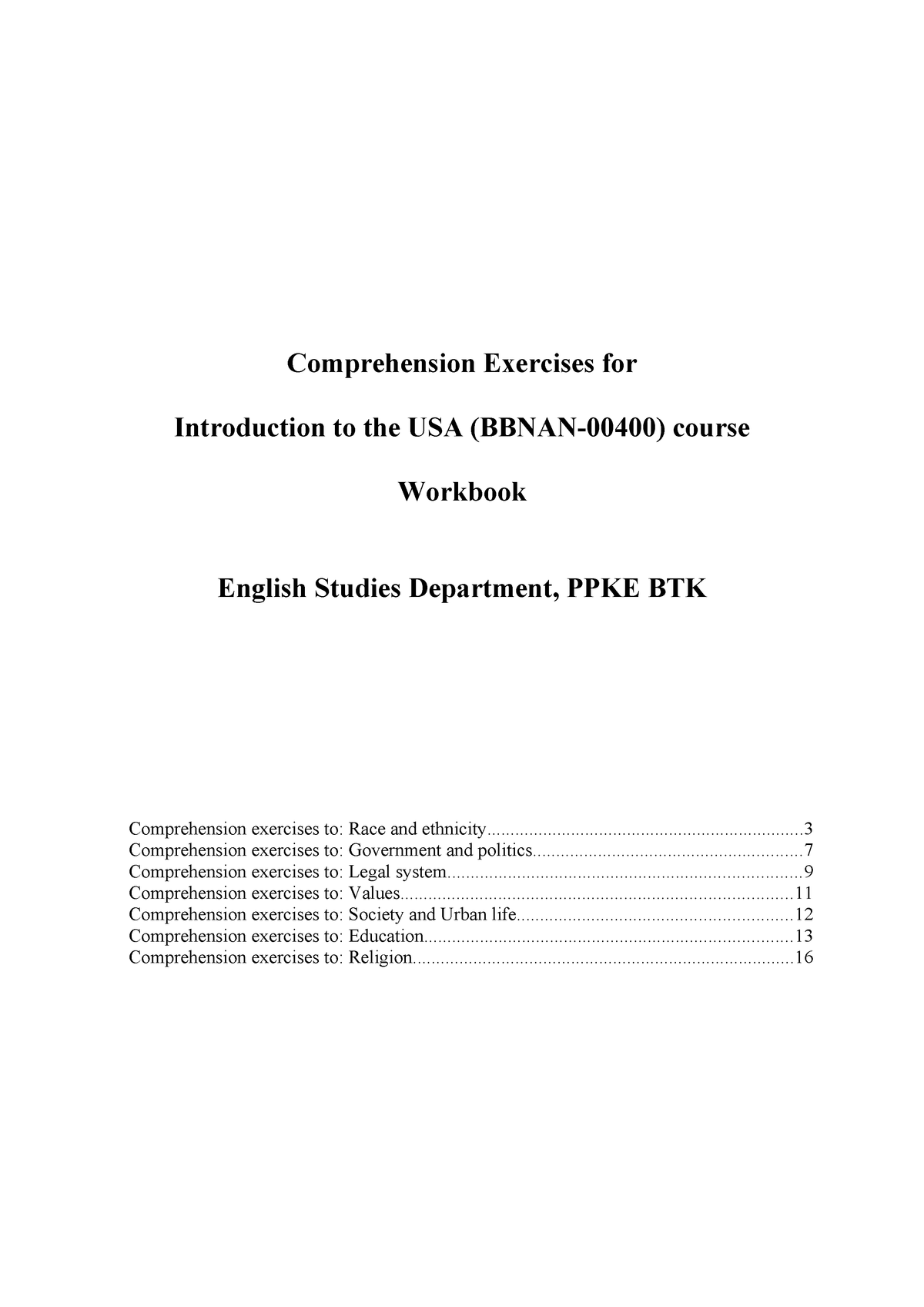 03Compr workbook USA - 01140: English Teaching - StuDocu