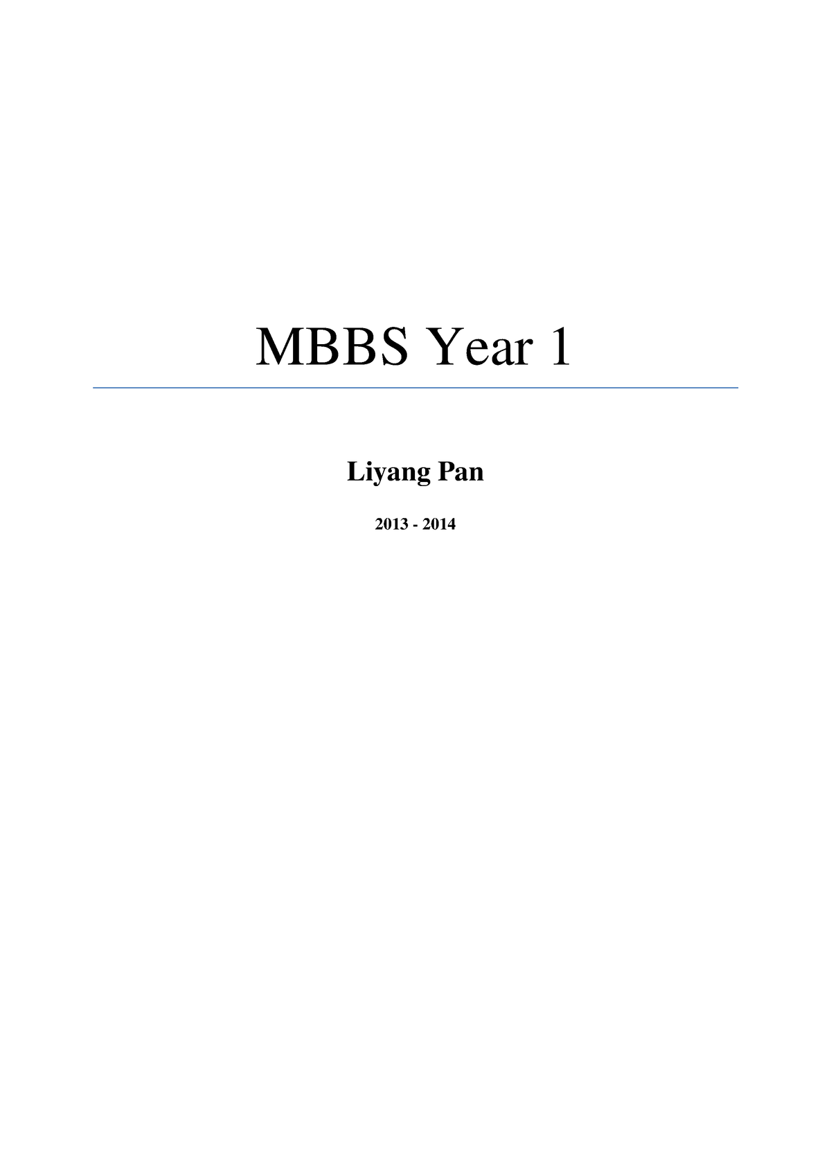all lectures, year 1 - MBBS : Medicine - StuDocu