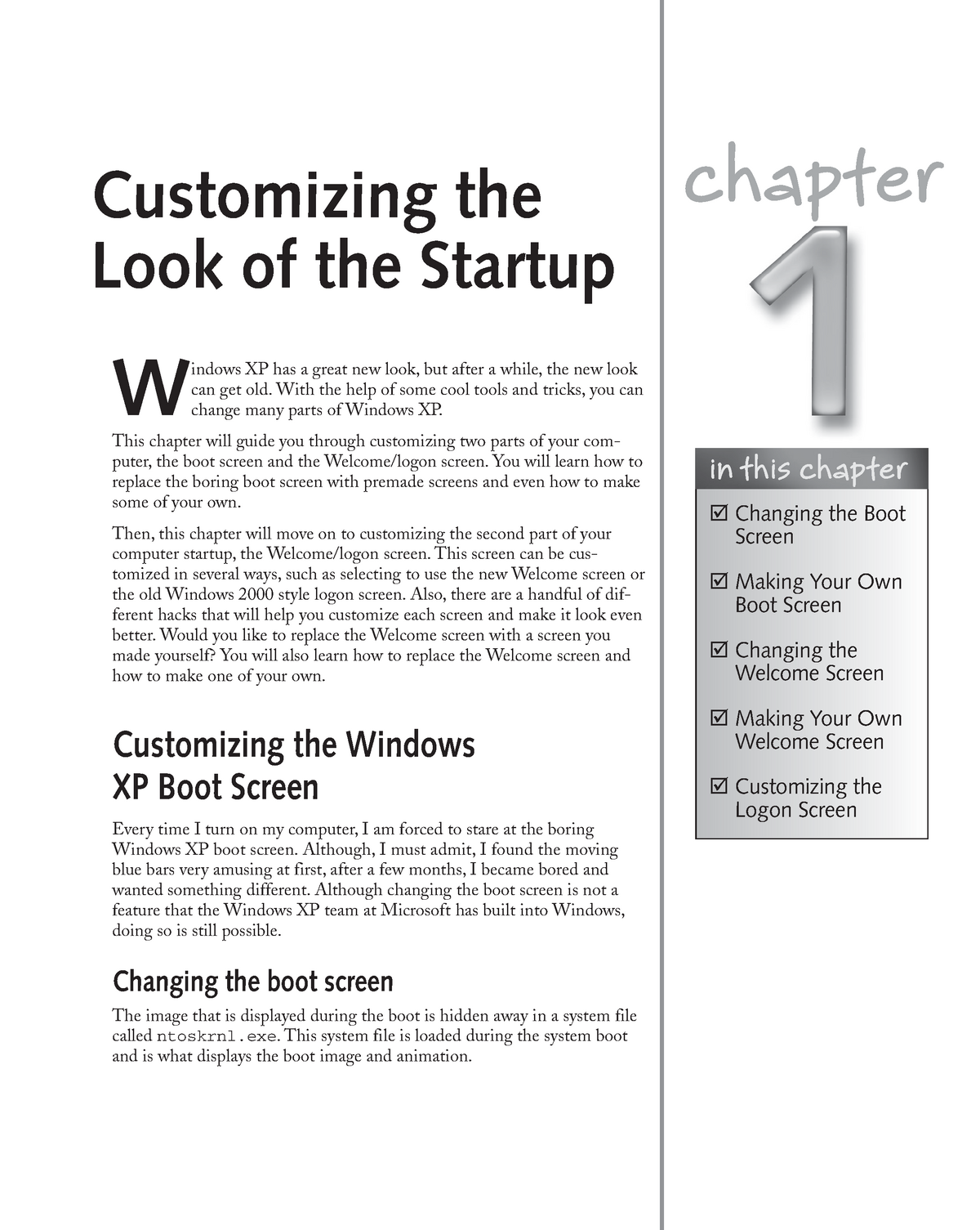 Chapter 01 Customizing the Look of the Startup - MIT 8202