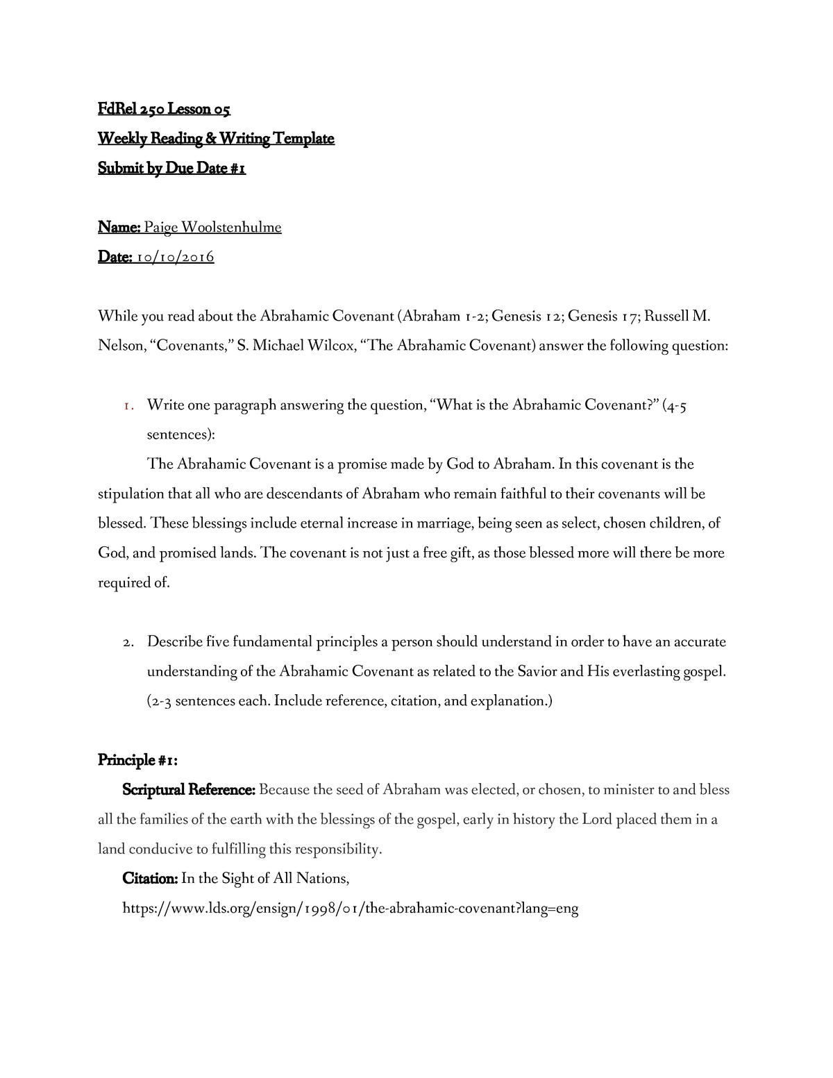 Fd Rel 250 Lesson 05 Writing Template - FDREL250 - BYU–Idaho