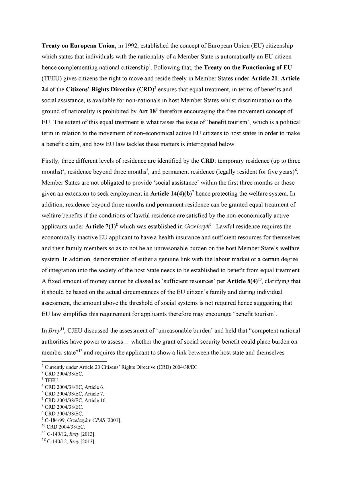 Eu law essay help