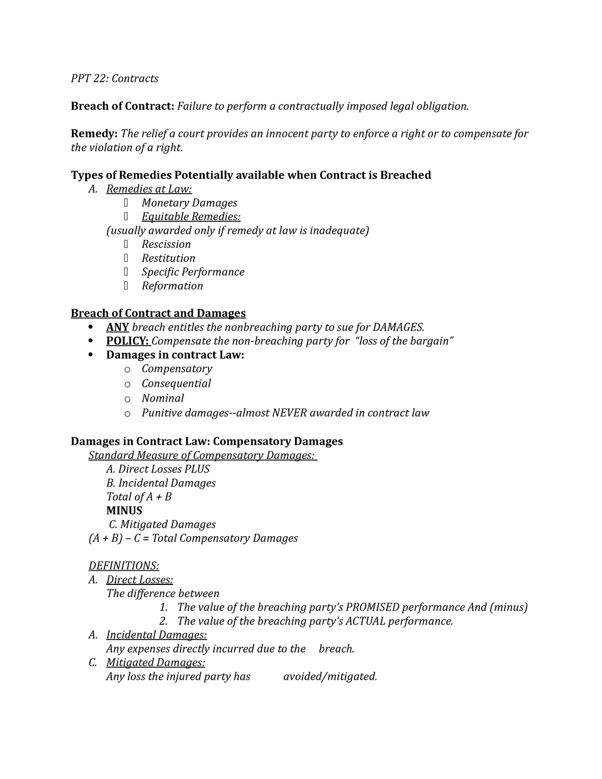 BLAW 341 Powerpoint 22 Notes Exam 2 - B LAW 341 - Penn State