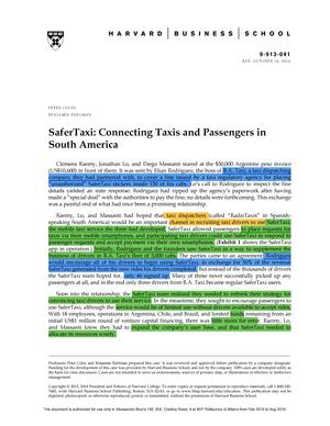 Safer Taxi-913041-PDF-ENG - 96092: Business & industrial economics