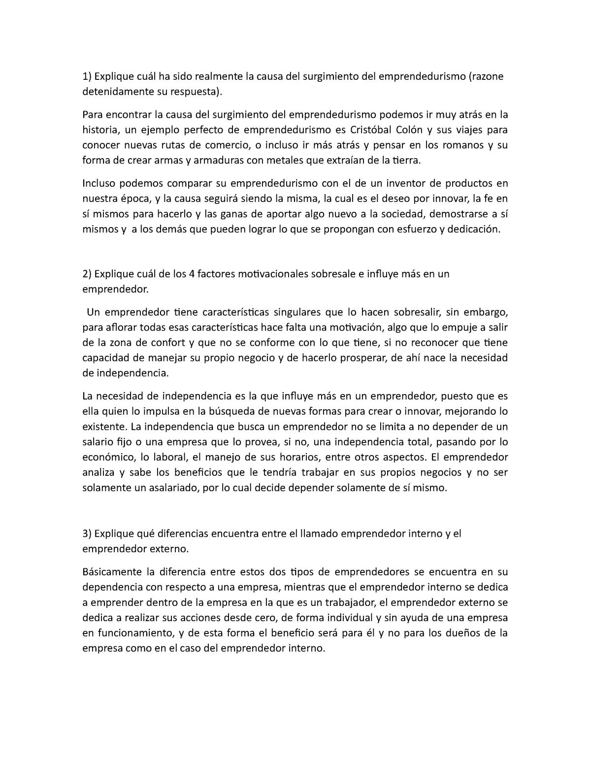 Resumen Sobre Emprendedurismo Gestión Empresarial Gem0