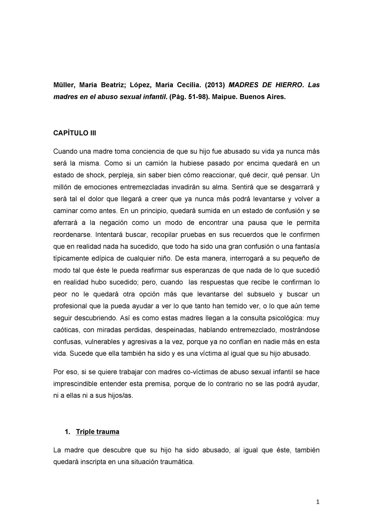 Abusso Internado Mas Ulino Porno madres de hierro ( triple trauma) - - uas - studocu