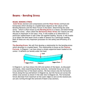 Lecture 2 Bending Stresses - MGTE 31252: Management and