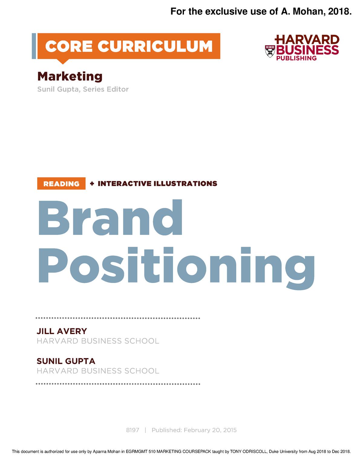 Reading 5 - MARKETNG 360 Marketing Management - StuDocu