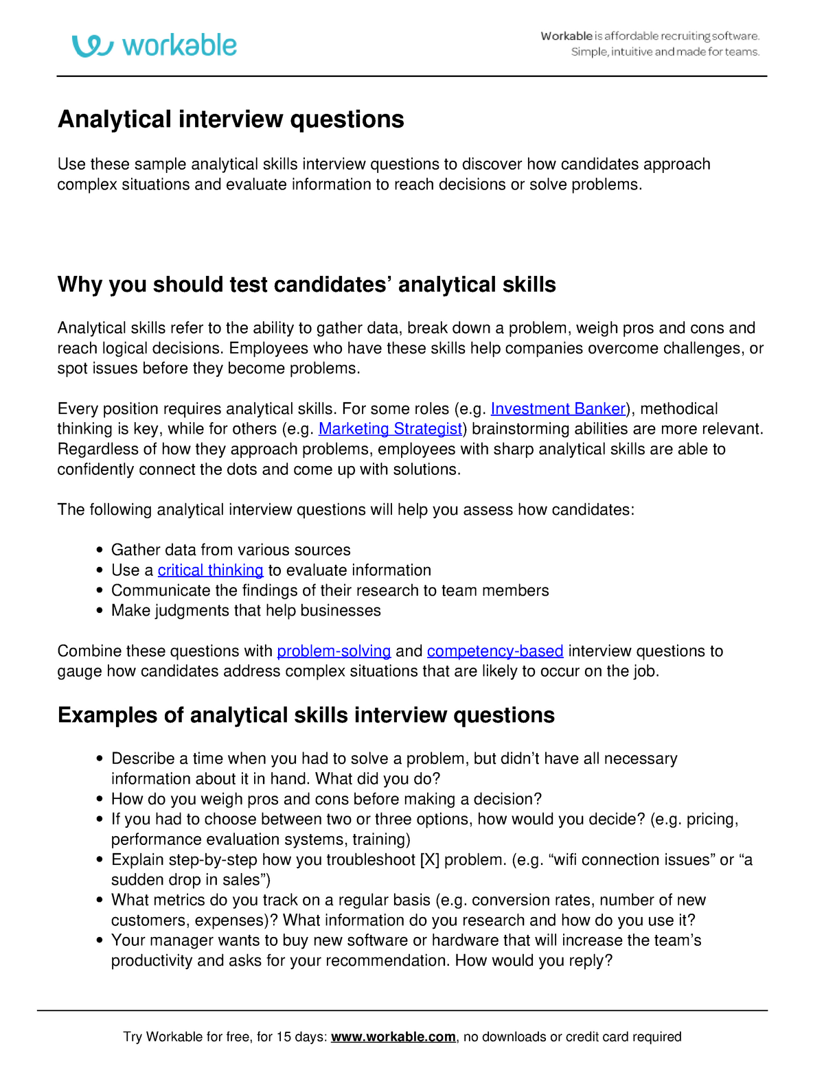 analytical skills interview questions-practise - uts