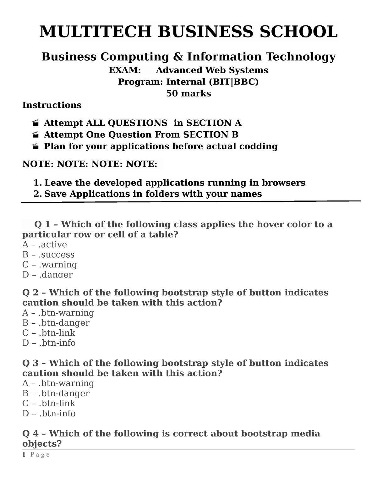 Exam 2011 - BBLT: Bachelor of Biomedical Laboratory technology - StuDocu