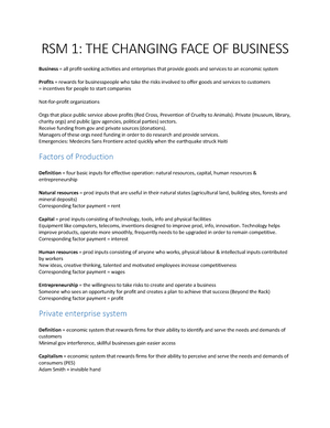 Summary Contemporary Business - Summary of Chapter 1-13 - StuDocu