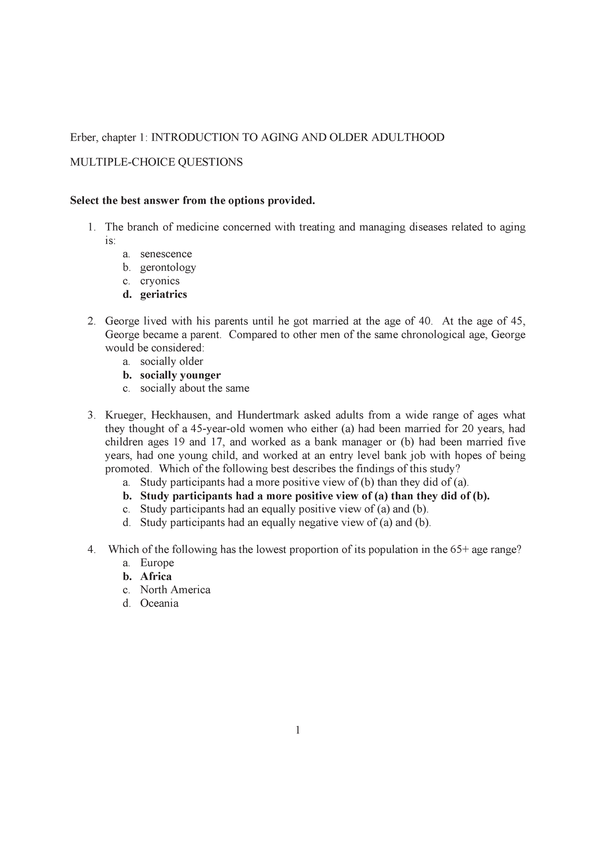 Vragen H01 - H12, Gerontologie - PSB3E-CN05: Gerontology - StuDocu