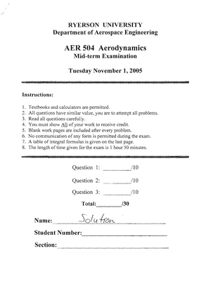 Exam 10 October 2005, questions and answers - Midterm