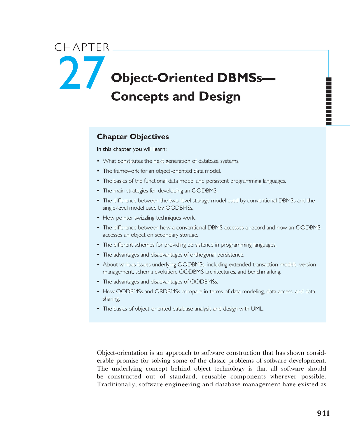 Chapter 27 Object Oriented Dbmss Concepts And Design Csu Studocu
