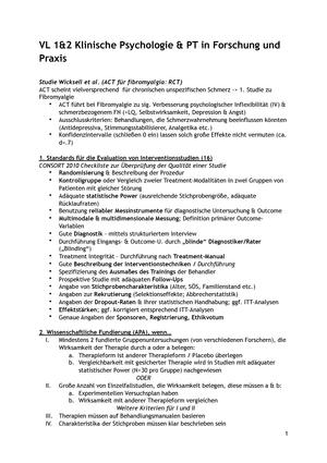 Zusammenfassung fuer Klinische Klausur 2018 - Psychotherapie in ...