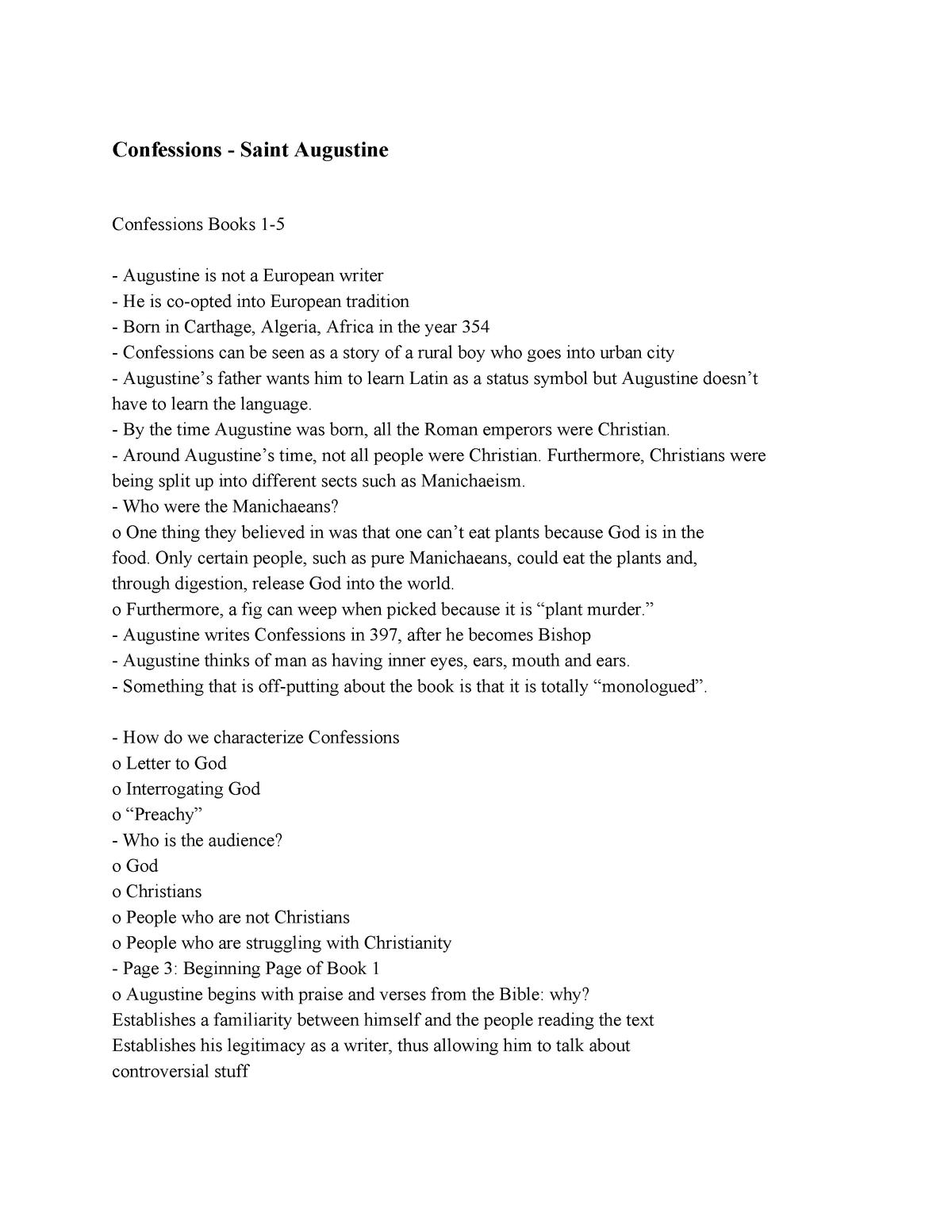 Lit Hum Study Guides - Summary EURPN LIT-PHILOS MASTERPIECS