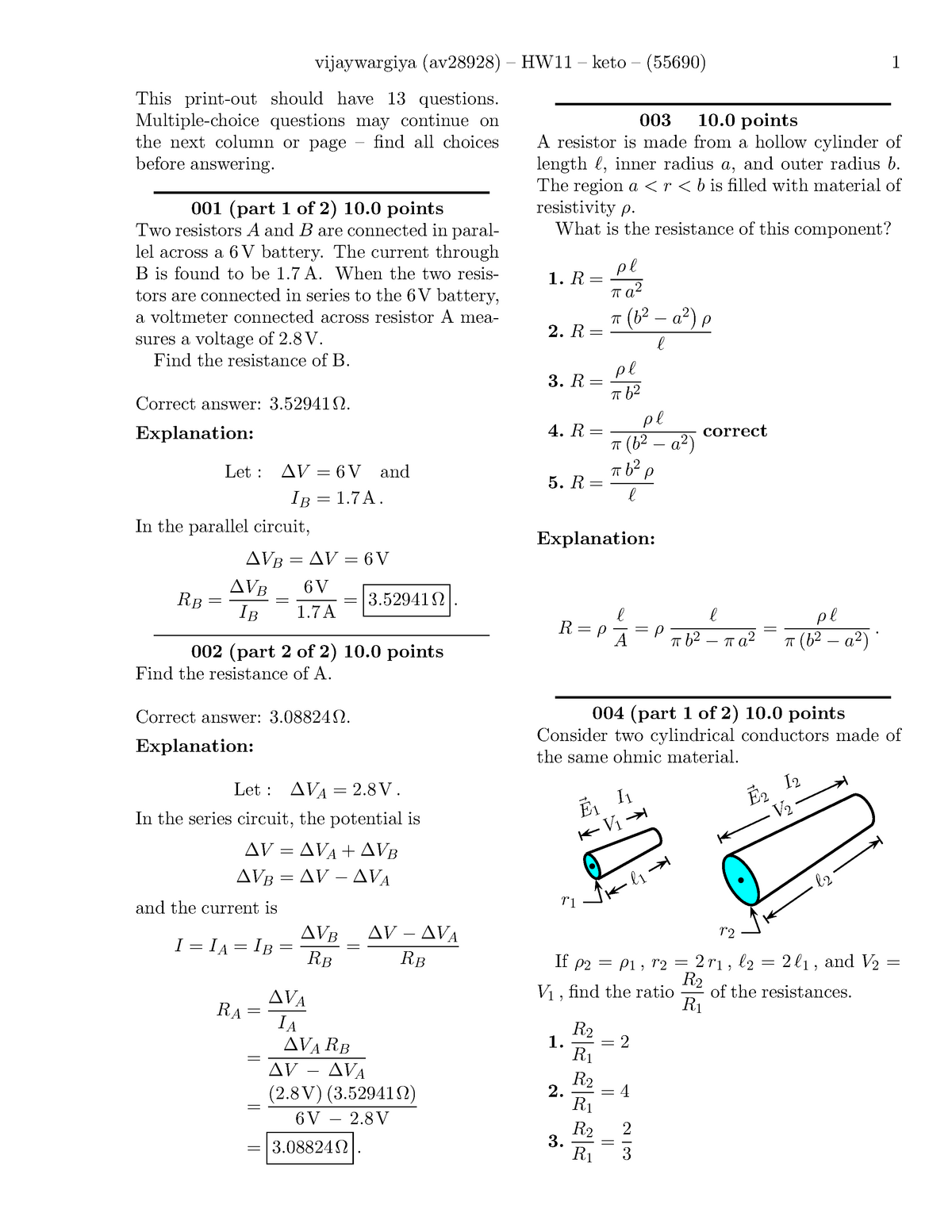 Seminar Assignments 11-20 - PHY 316: Electricity and Magnetism - StuDocu