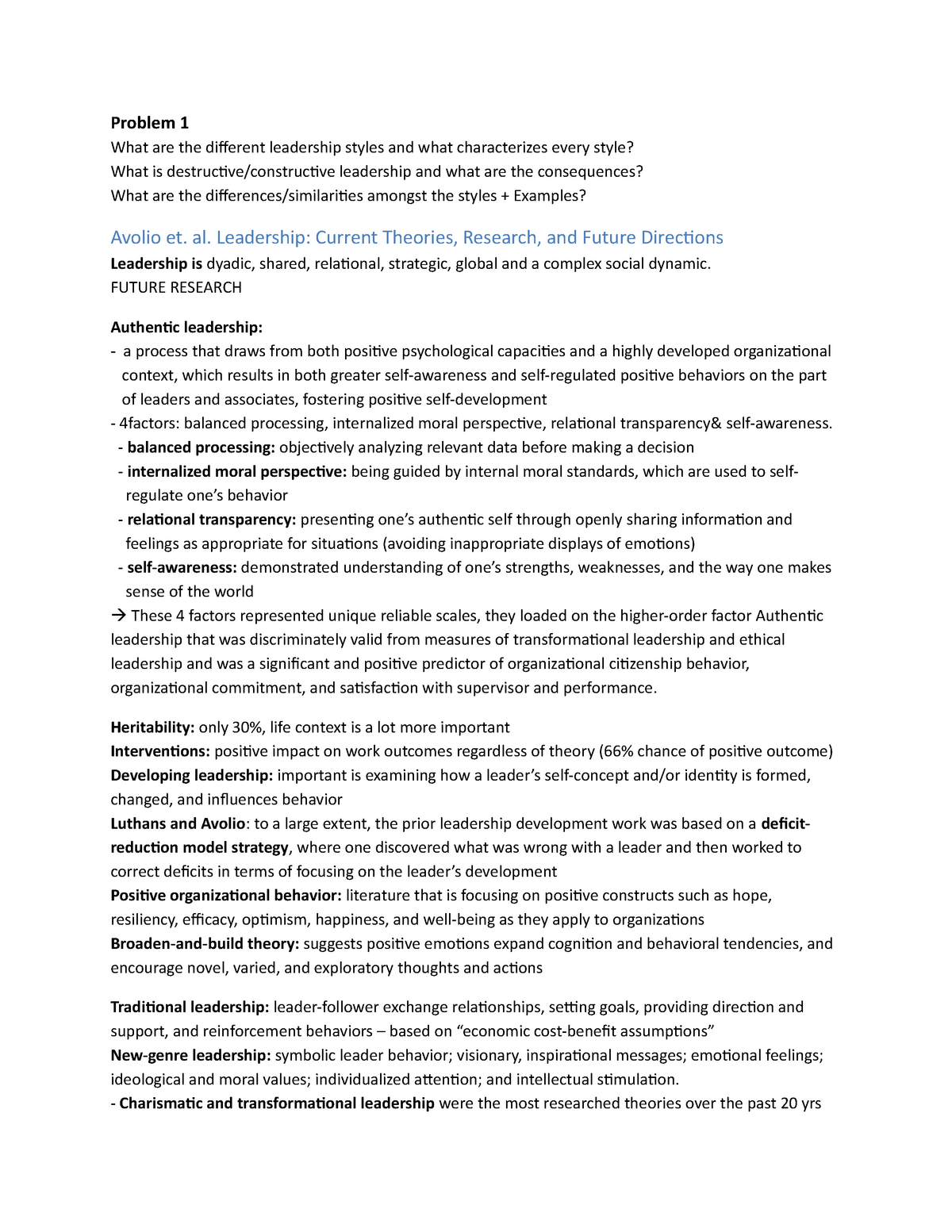 Problem 1 - Leadership & Coaching FSWP3081A - EUR - StudeerSnel