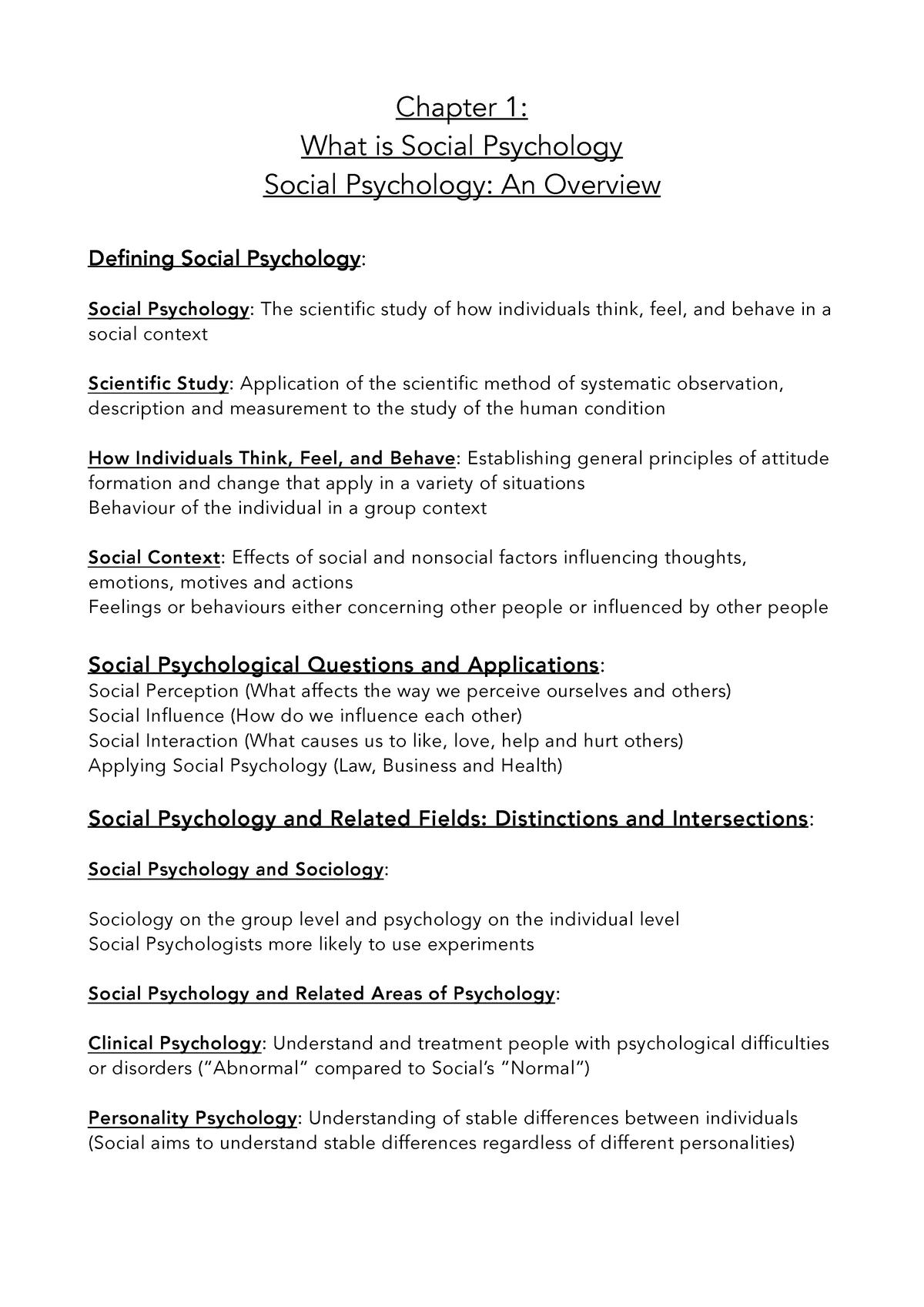 Chapter 1 - Psychology 220 SLK 220 - UP - StuDocu