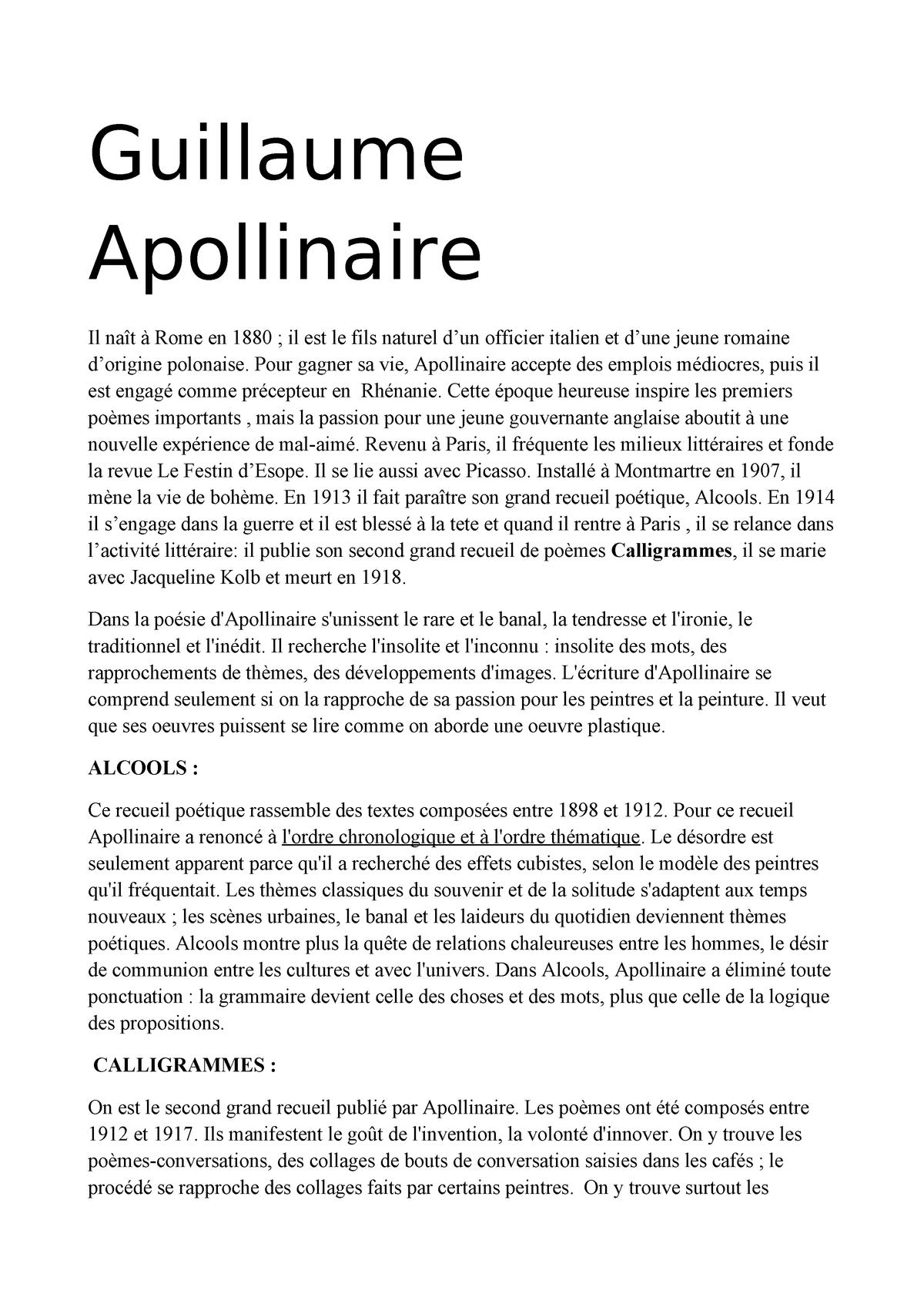 Guillaume Apollinaire Lingue Media E Pubblicita 20704039