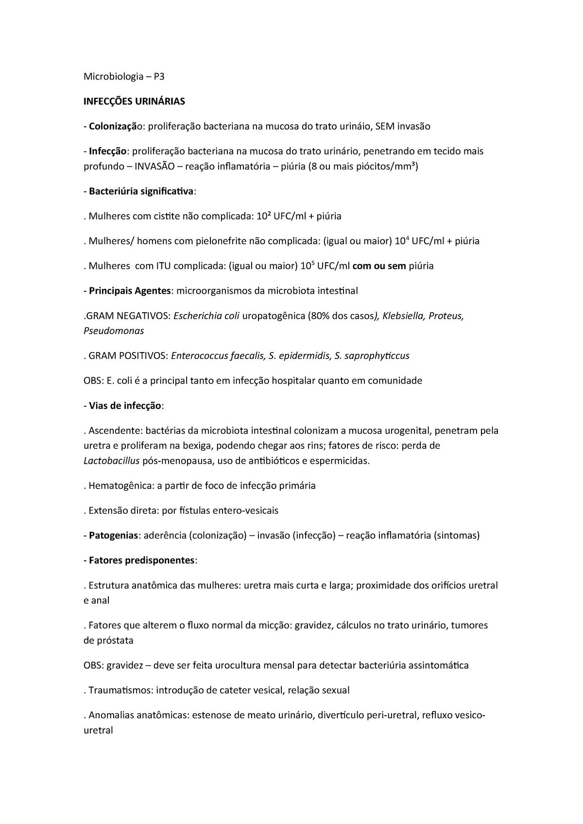 Resumo De Microbiologia Par005gv Ufjf Studocu
