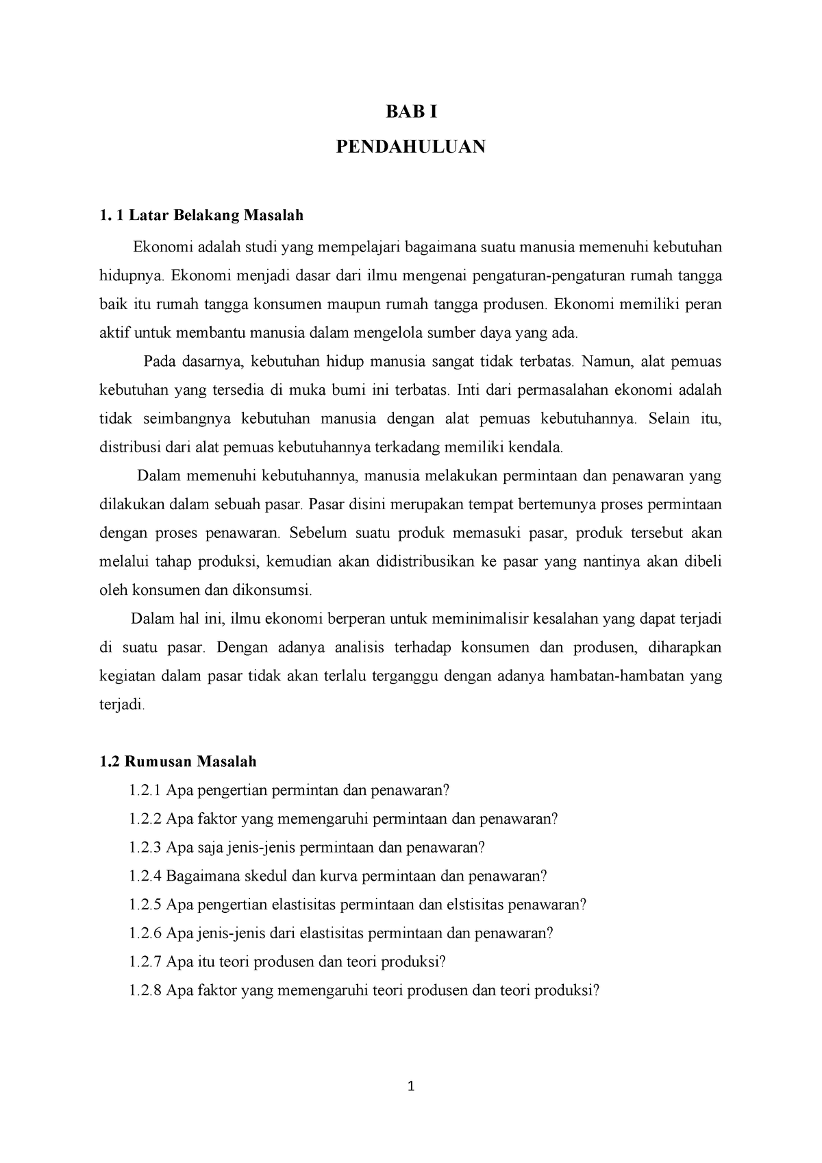 Makalah Pengantar Ilmu Ekonomi Studocu